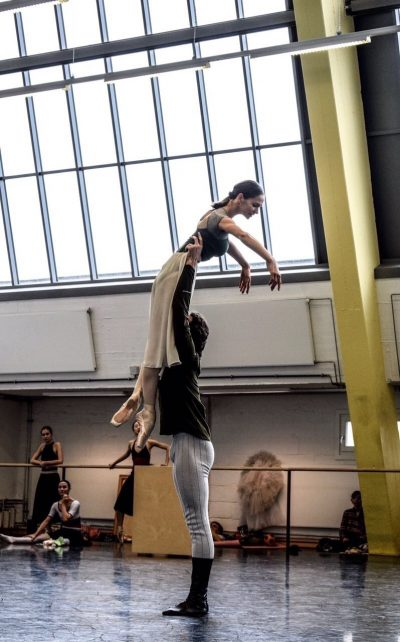 rehearsing with Polina Semionova in Berlin, photo Paul Busch
